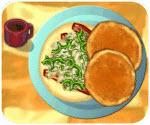 Bữa sáng với trứng omlet